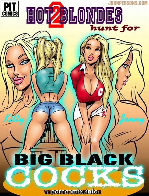 2 Hot Blonde Hunt For Big Black Cocks image 01