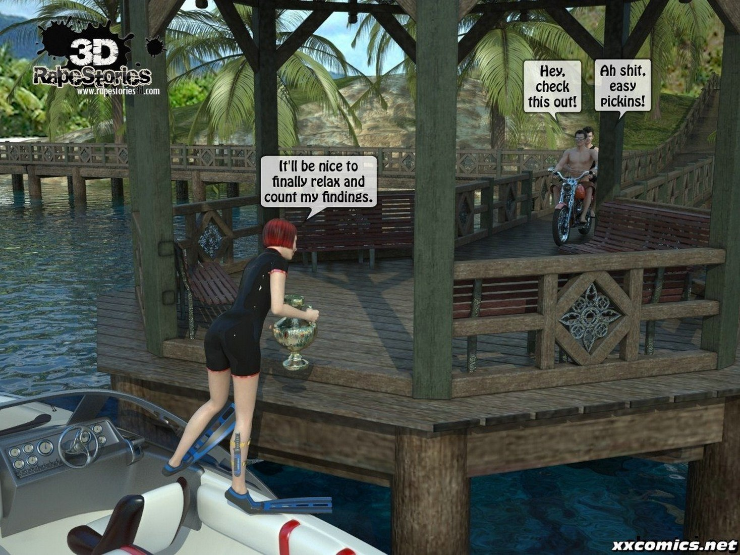 3D -Forced at the boat image 01