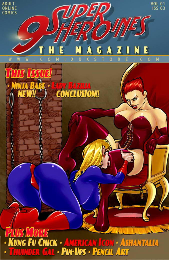 Porn Comics - 9 Super Heroines-The Magazine 3 porn comics 8 muses