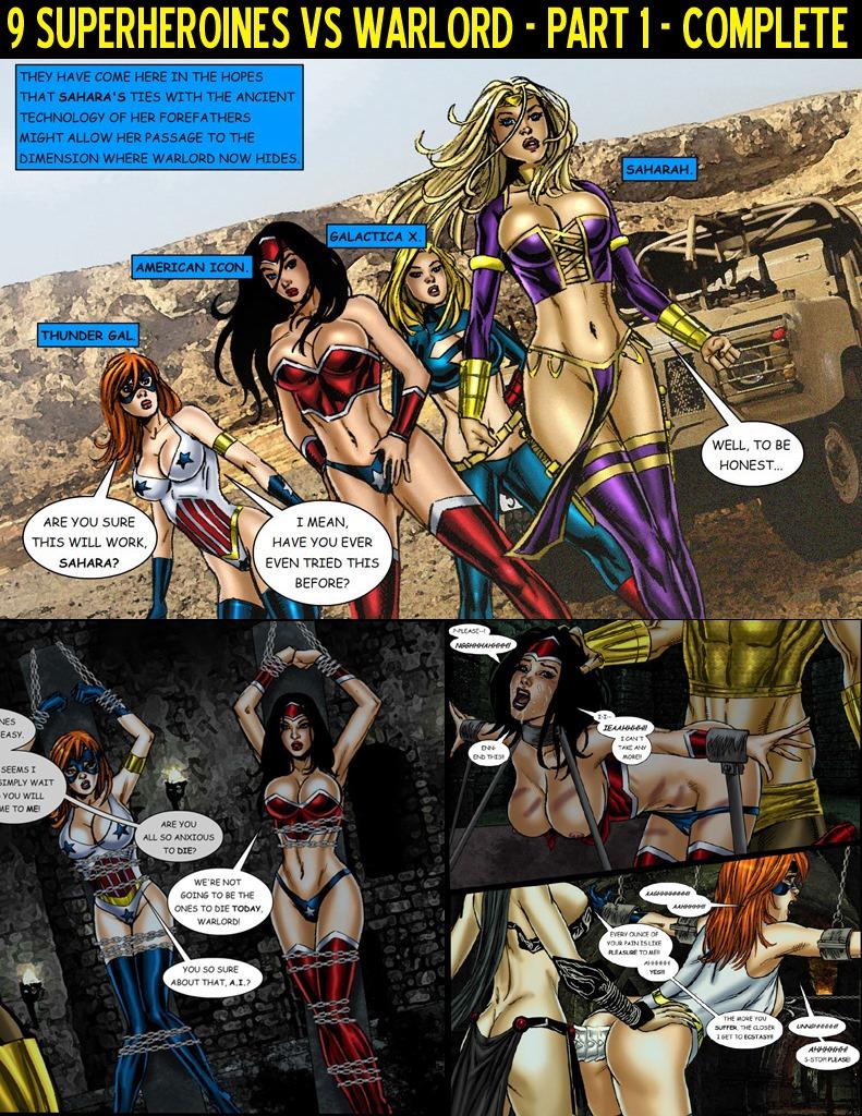 9 Superheroines vs Warlord Ch.1 image 1