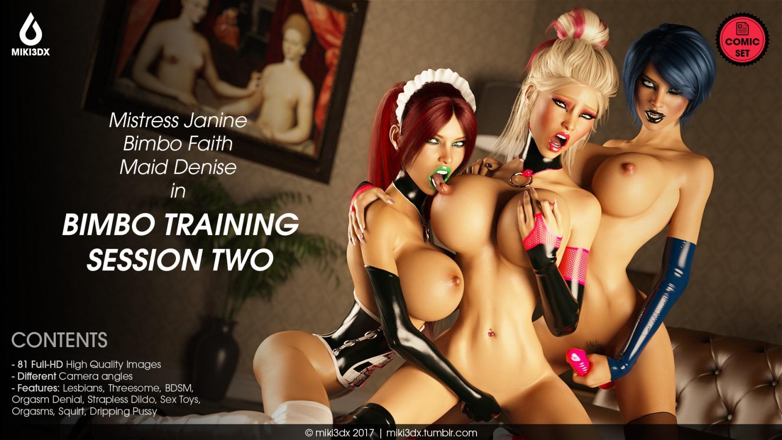 Bimbo Training Session 2- Miki3DX image 1