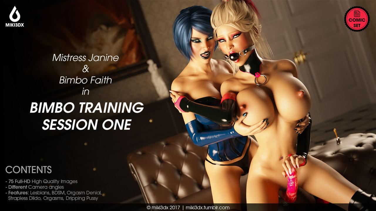 Bimbo Training Session One- Miki3DX image 1