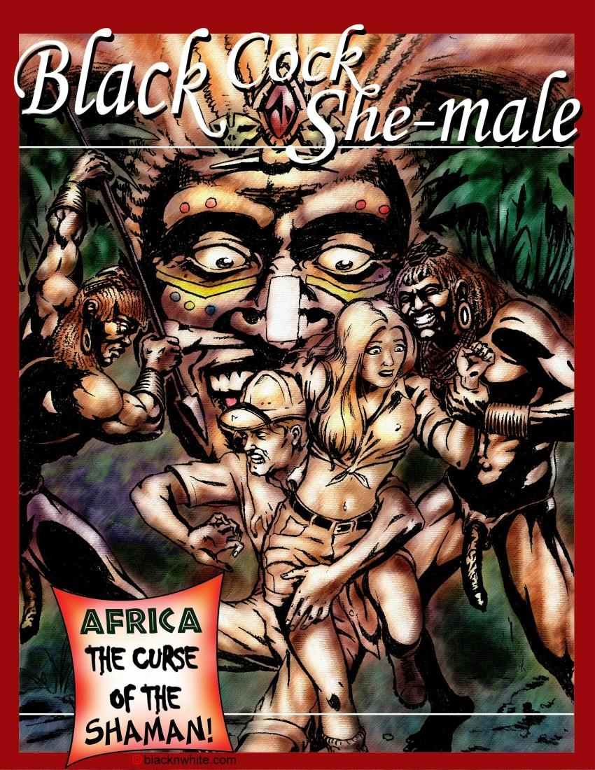Black cock shemale 1- BlacknWhite image 01