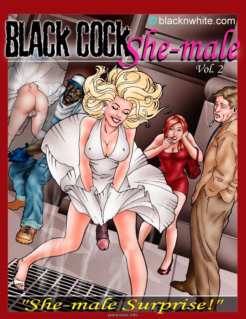 Porn Comics - Black Cock Shemale 2- BNW porn comics 8 muses