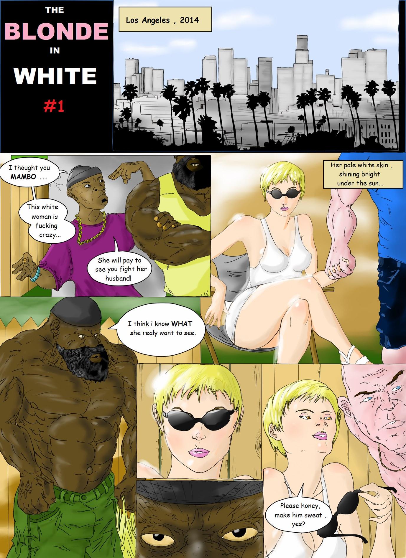 Porn Comics - Blonde in White # 1- Interracial porn comics 8 muses