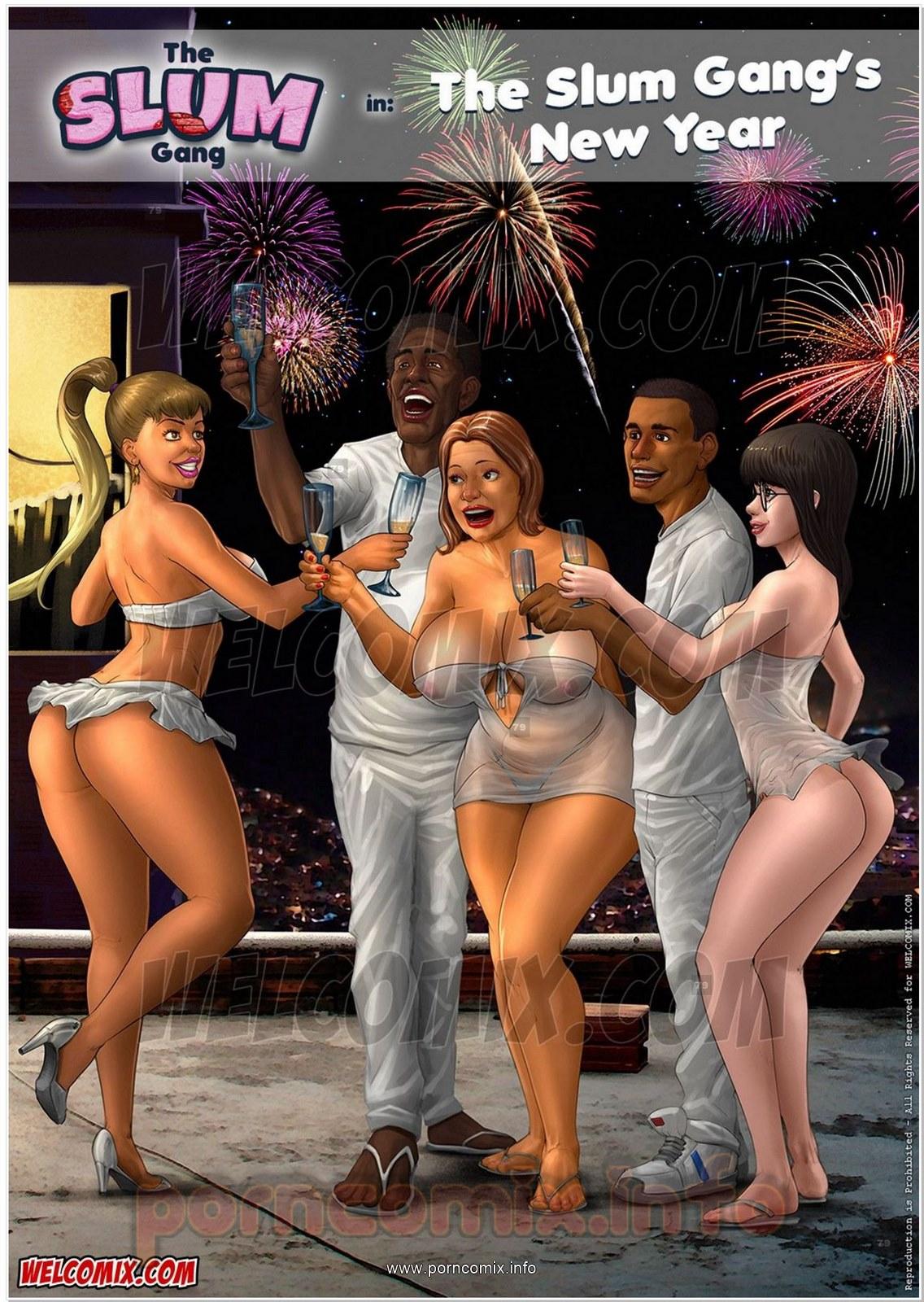 Porn Comics - Brazilian Slumdogs 5- Slum Gang's New Year porn comics 8 muses
