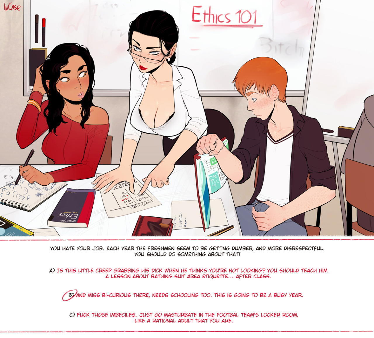 Porn Comics - Ethics 101- InCase (Choose Your Own Adventure) porn comics 8 muses