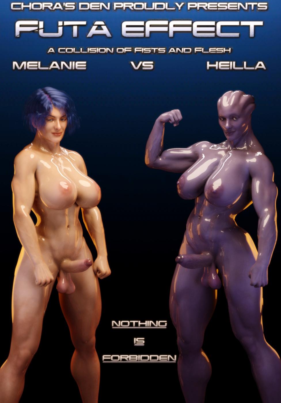 Futa Effect Heilla vs Melanie- Squarepeg3D image 1