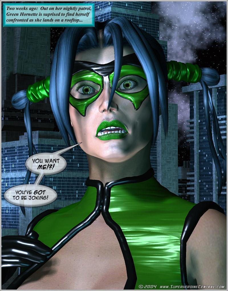 Green Hornet- Superheroine Central image 1
