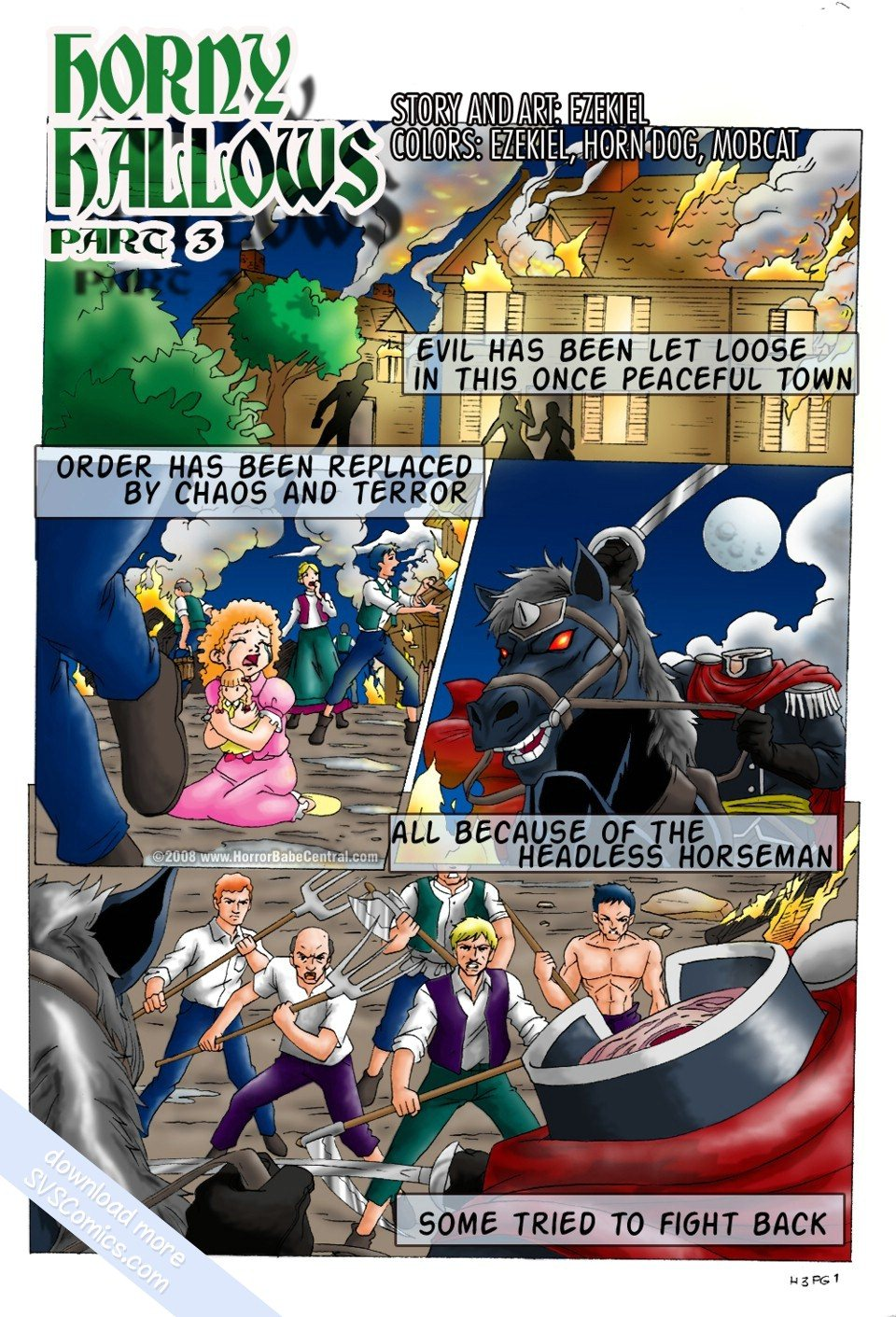 Porn Comics - Horny Hollows 3 Headless Phantom porn comics 8 muses
