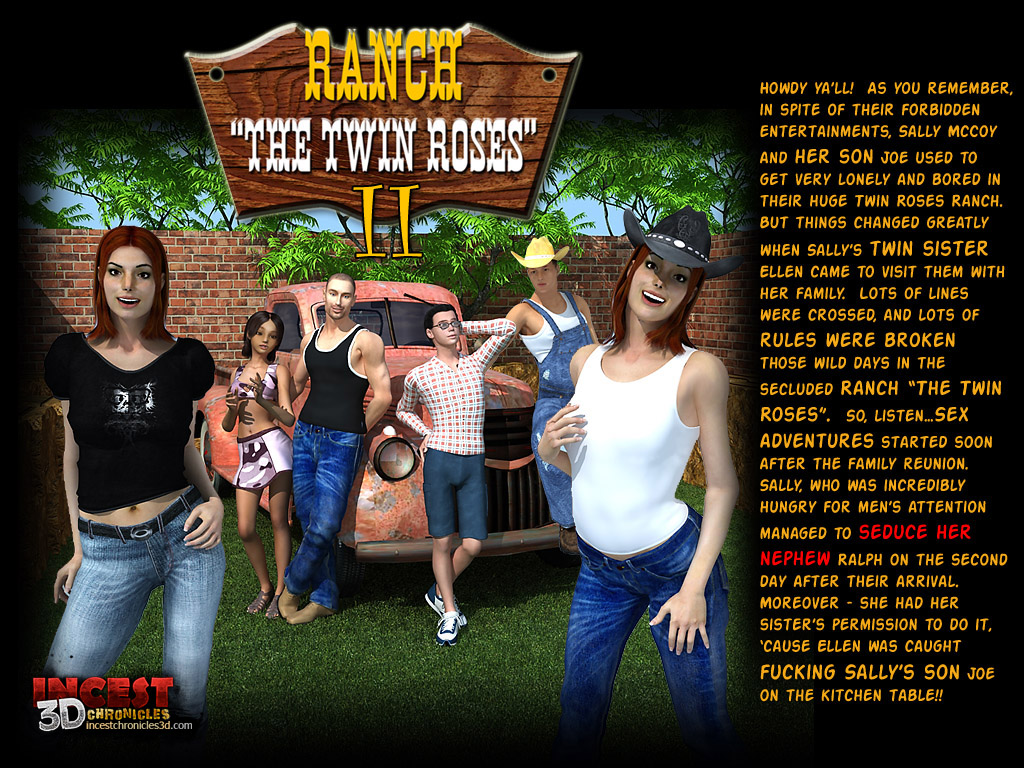 Incest3DChronicles- Ranch The Twin Roses. Part 2 image 1