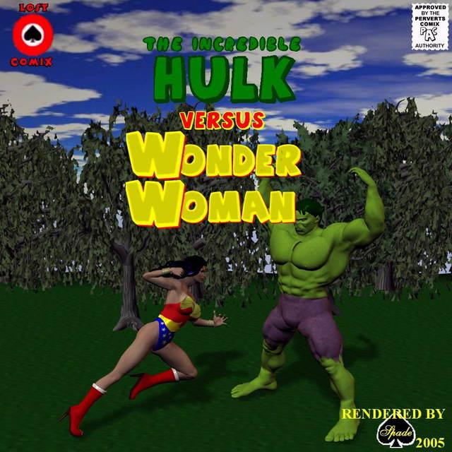 Porn Comics - Incredible Hulk VS Wonder Woman porn comics 8 muses