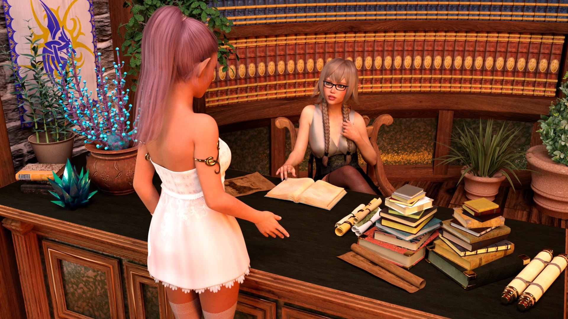 Porn Comics - Lustful Desires – The Librarian- Naama porn comics 8 muses