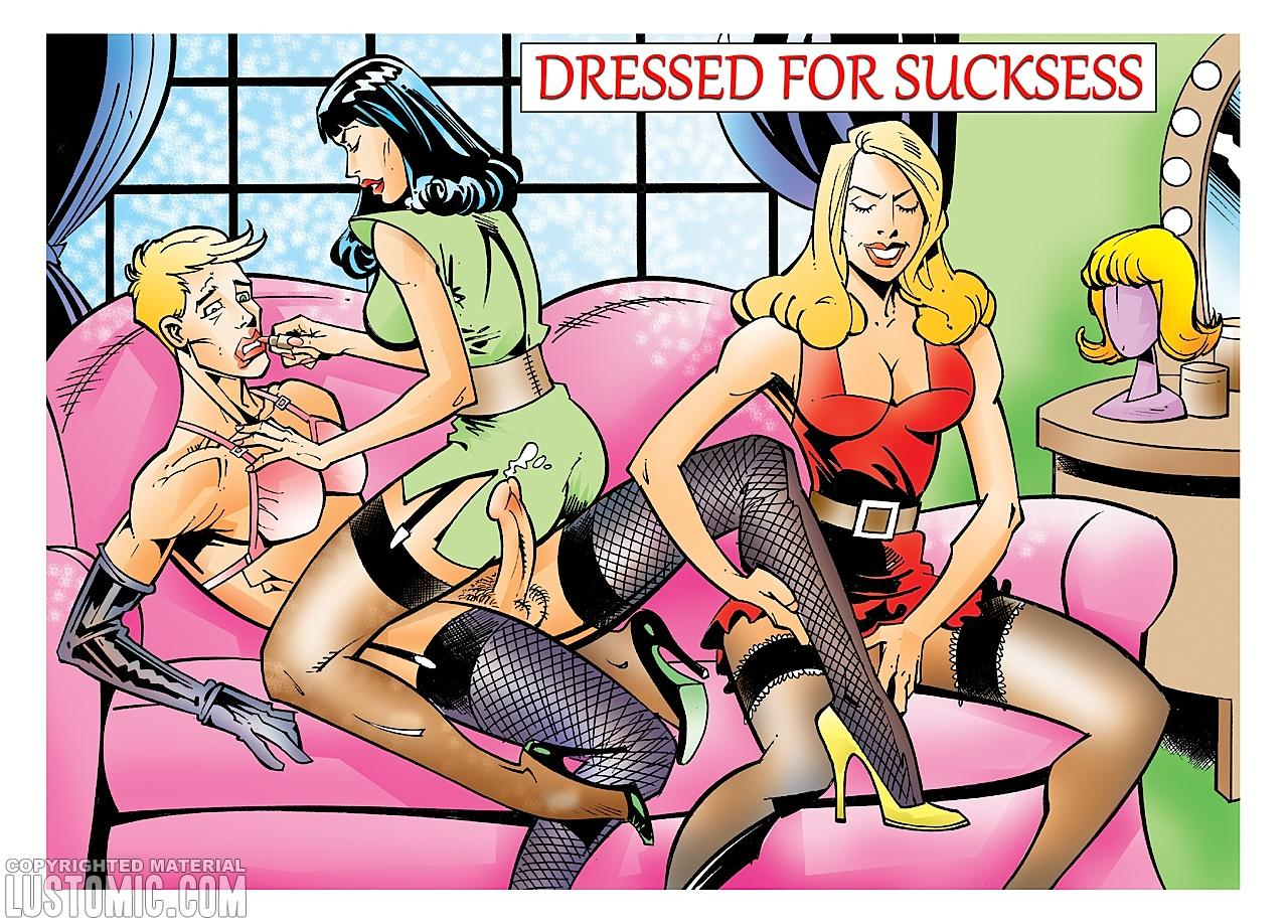 Porn Comics - Dressed For Sucksess-Lustomic porn comics 8 muses