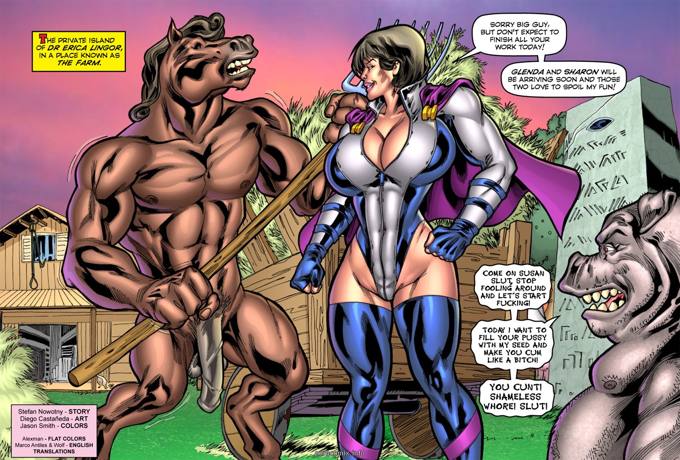 Porn Comics - Alien Orgy Farm- Superheroine porn comics 8 muses