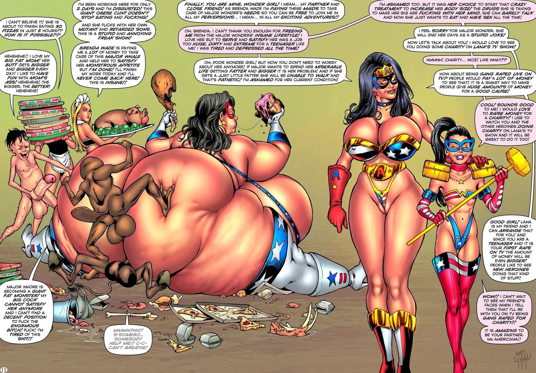 Porn Comics - Ms Americana – Dildo Fever (SuperHeroine ) porn comics 8 muses