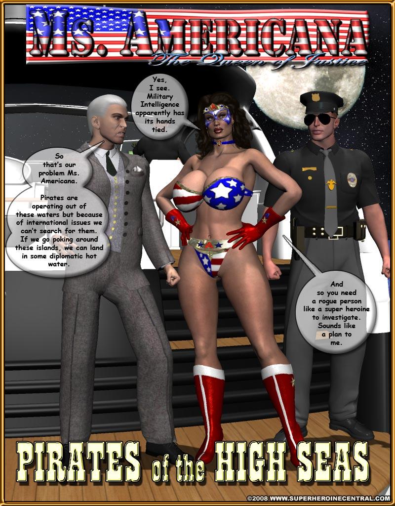 Porn Comics - Ms. Americana vs. Pirates of the High Seas porn comics 8 muses