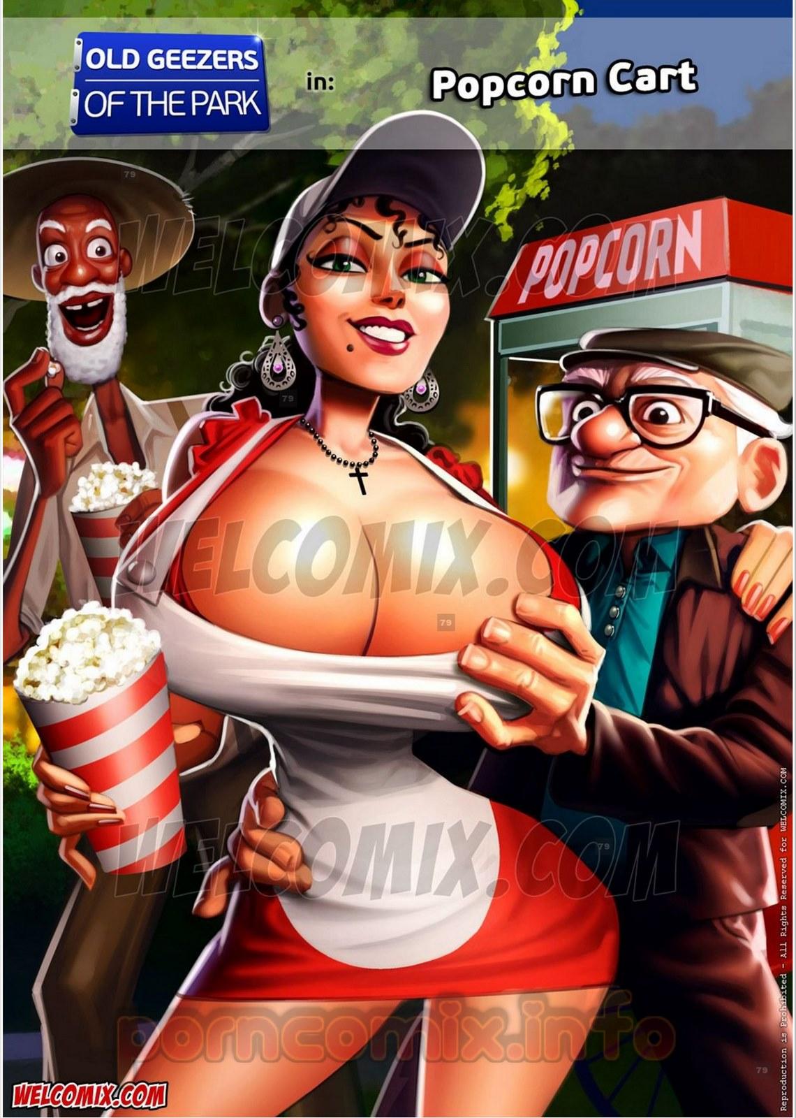 Porn Comics - Old Geezers of Parks- Popcorn Cart porn comics 8 muses