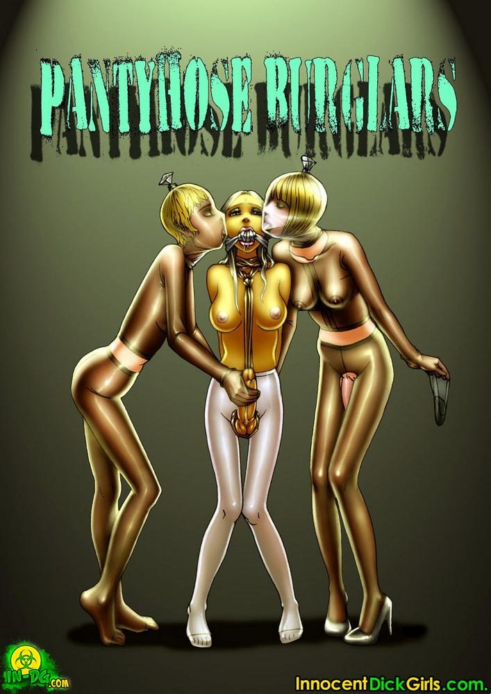 Porn Comics - Pantyhose Burglars-InnocentDickGirl porn comics 8 muses