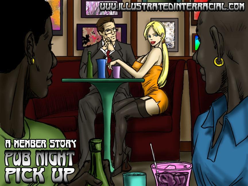 Porn Comics - Pub Night Pick Up- illustrated interracial porn comics 8 muses