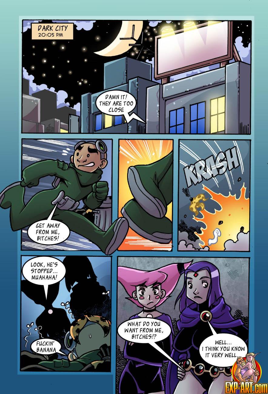 Raven & Jinx Online Auction Sex- Teen Titans image 1