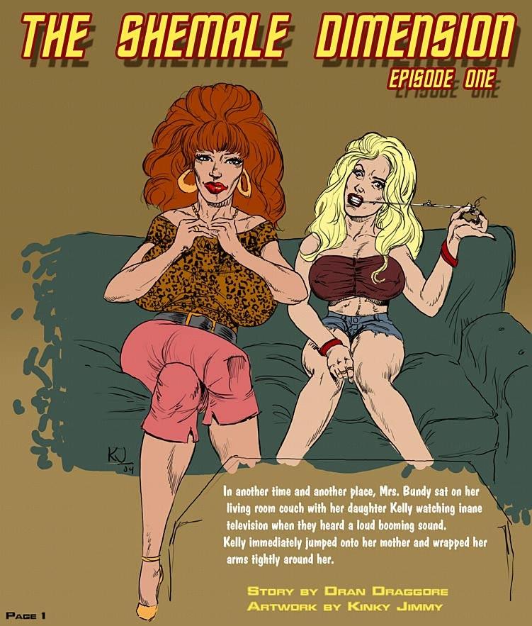 Porn Comics - Shemale Dimensione- Dickgirls porn comics 8 muses