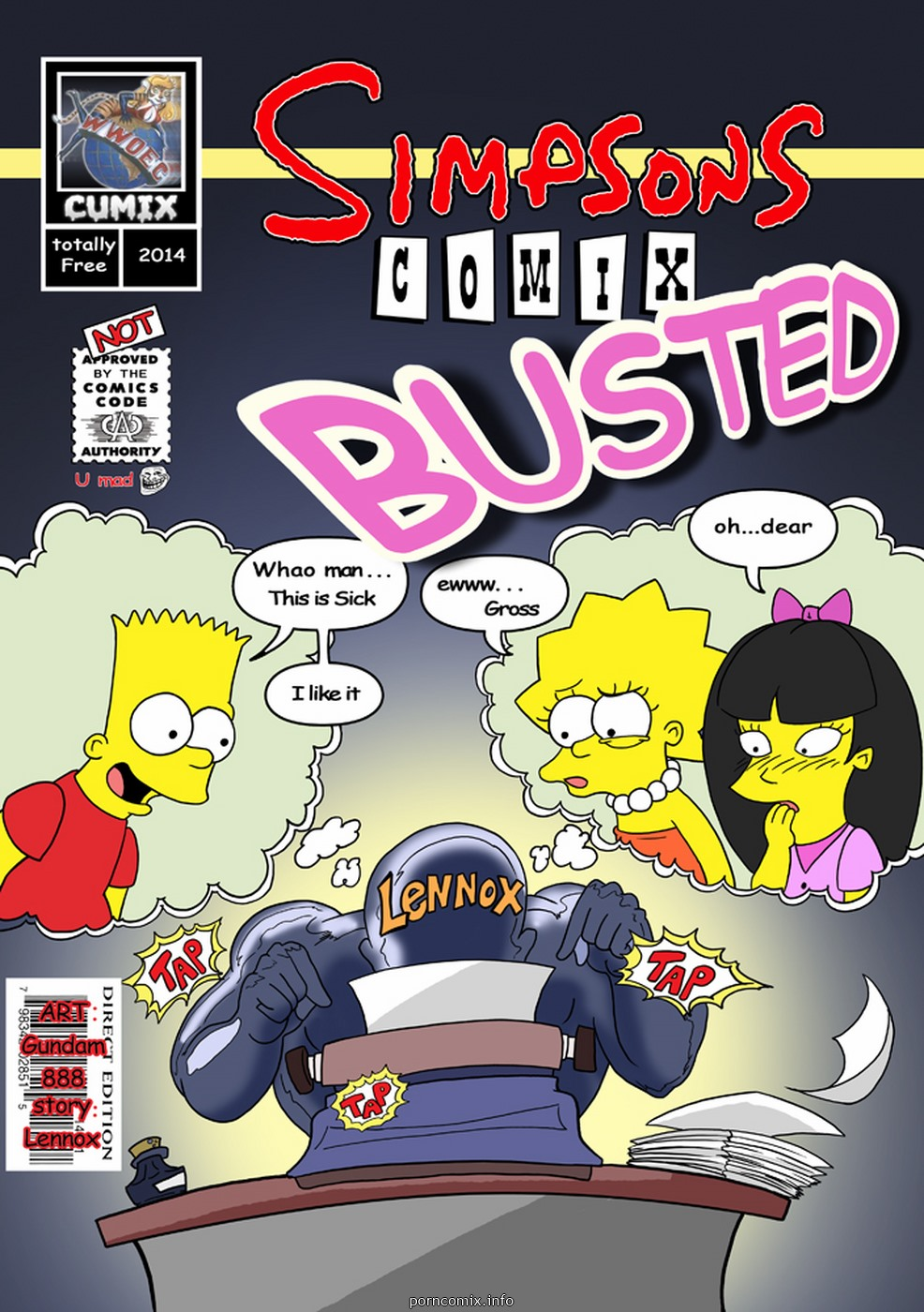 Porn Comics - Simpsons- Busted porn comics 8 muses