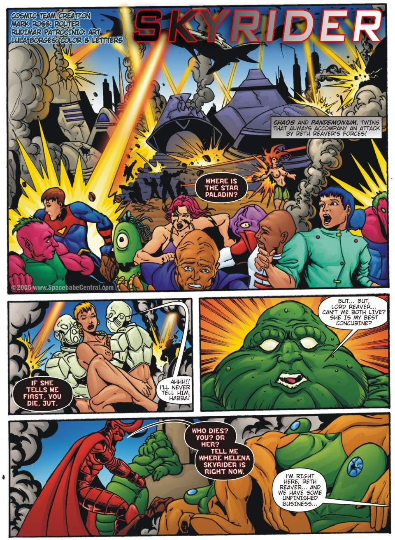 Porn Comics - Sky Rider-SpaceBabe Central porn comics 8 muses