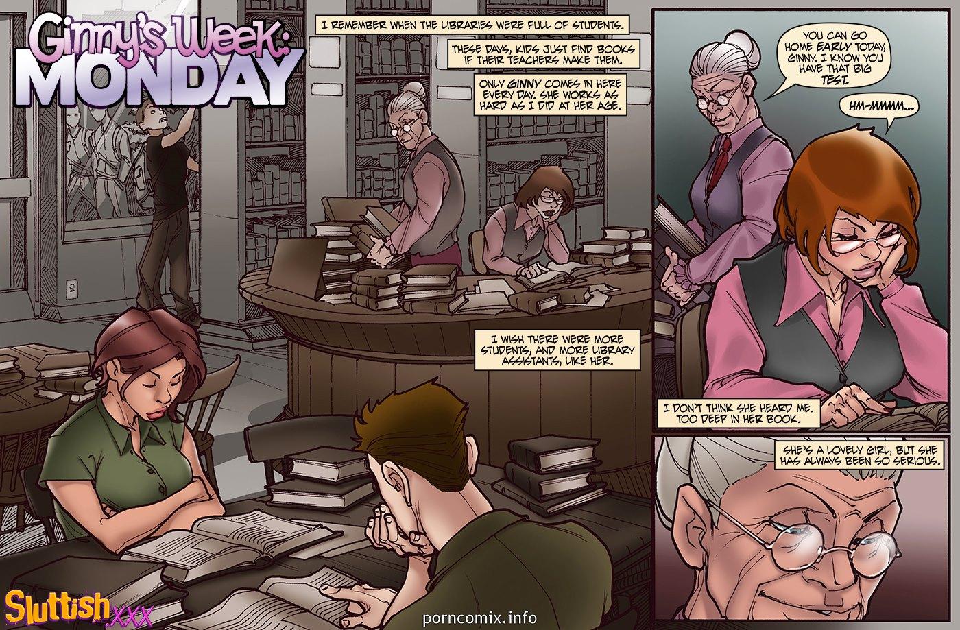 Porn Comics - SluttishXXX – Ginnys Week Monday porn comics 8 muses
