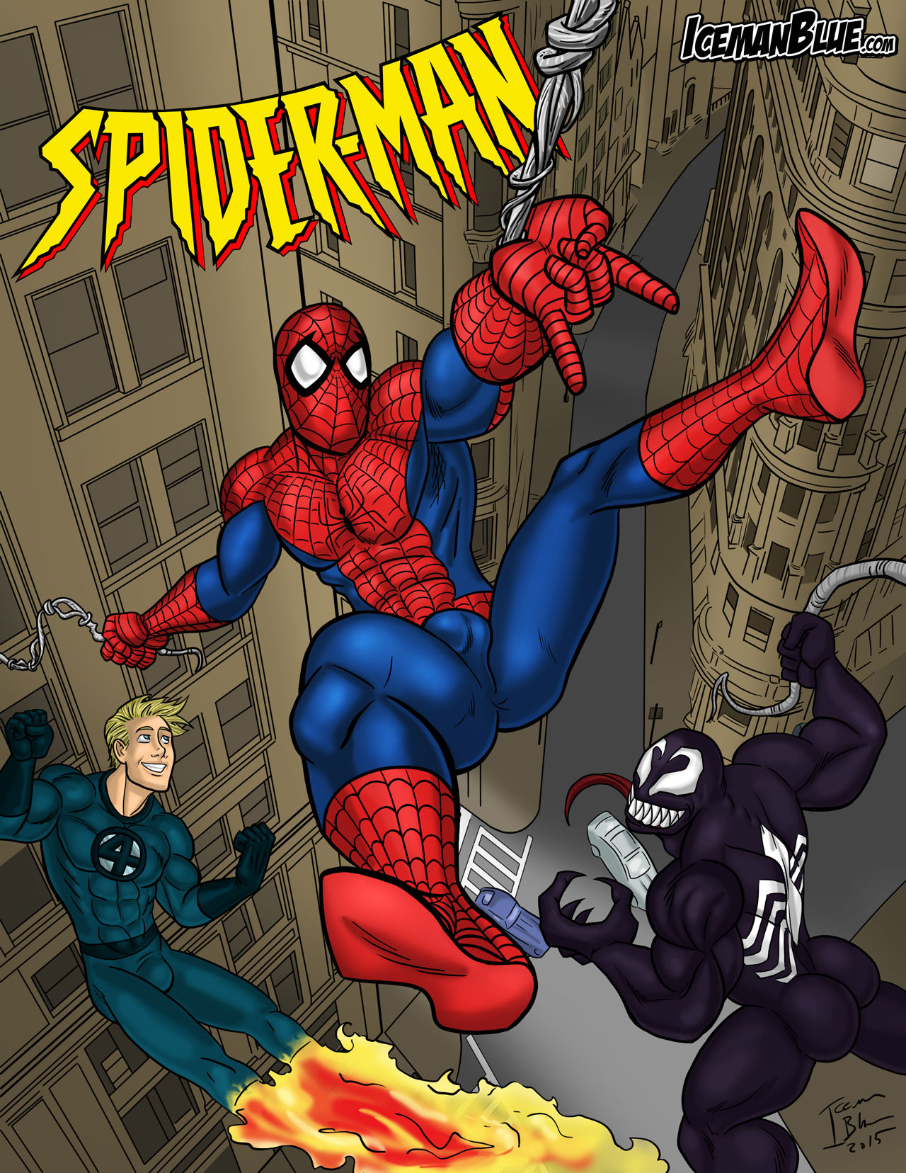 Porn Comics - Spider-Man- Iceman Blue porn comics 8 muses