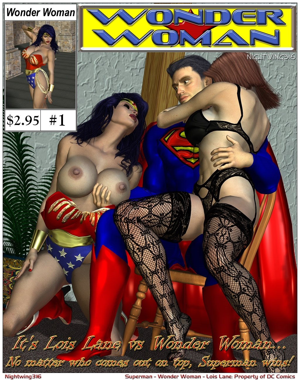 Porn Comics - Superman- Lois Lane VS. Wonder Woman porn comics 8 muses
