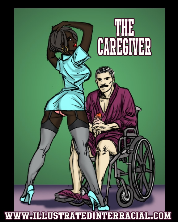 The Caregiver- illustrated interracial image 01