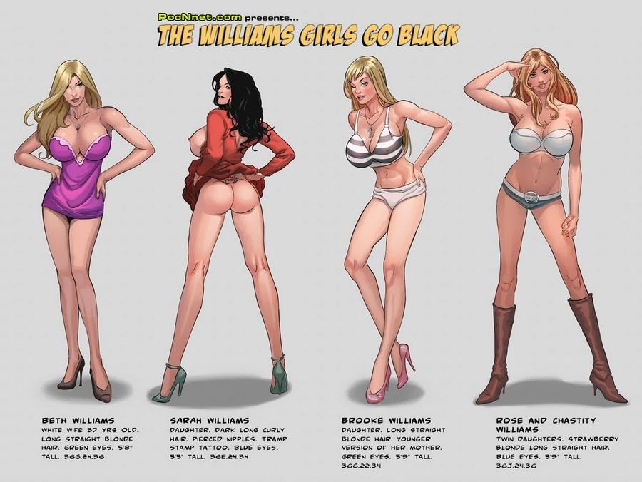 Porn Comics - The Williams Girls Go Black porn comics 8 muses