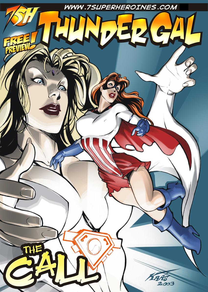 Porn Comics - Thunder Gal- The Call- 7Superheroines porn comics 8 muses