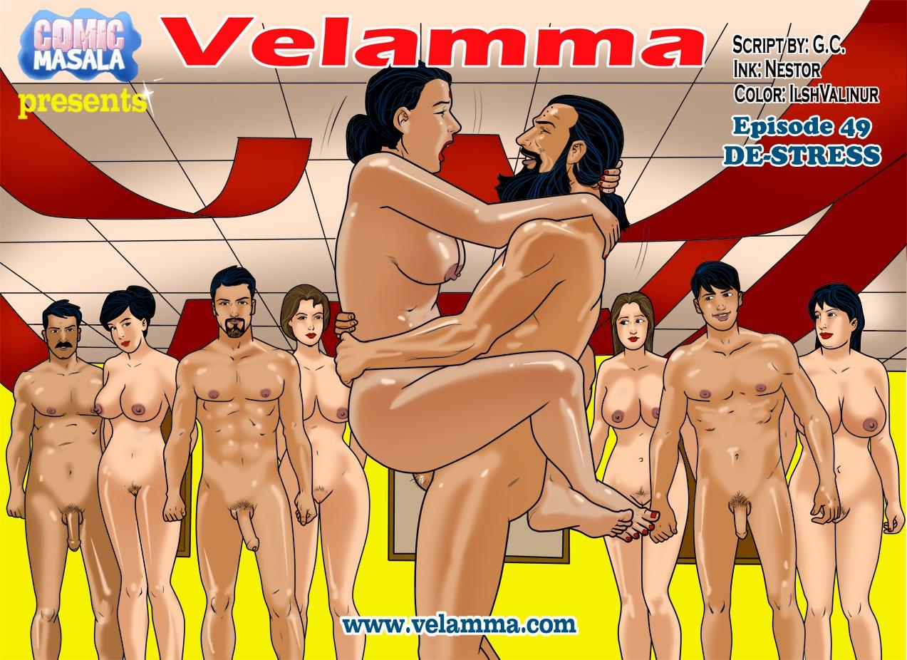 Porn Comics - Velamma 49- De-stress porn comics 8 muses