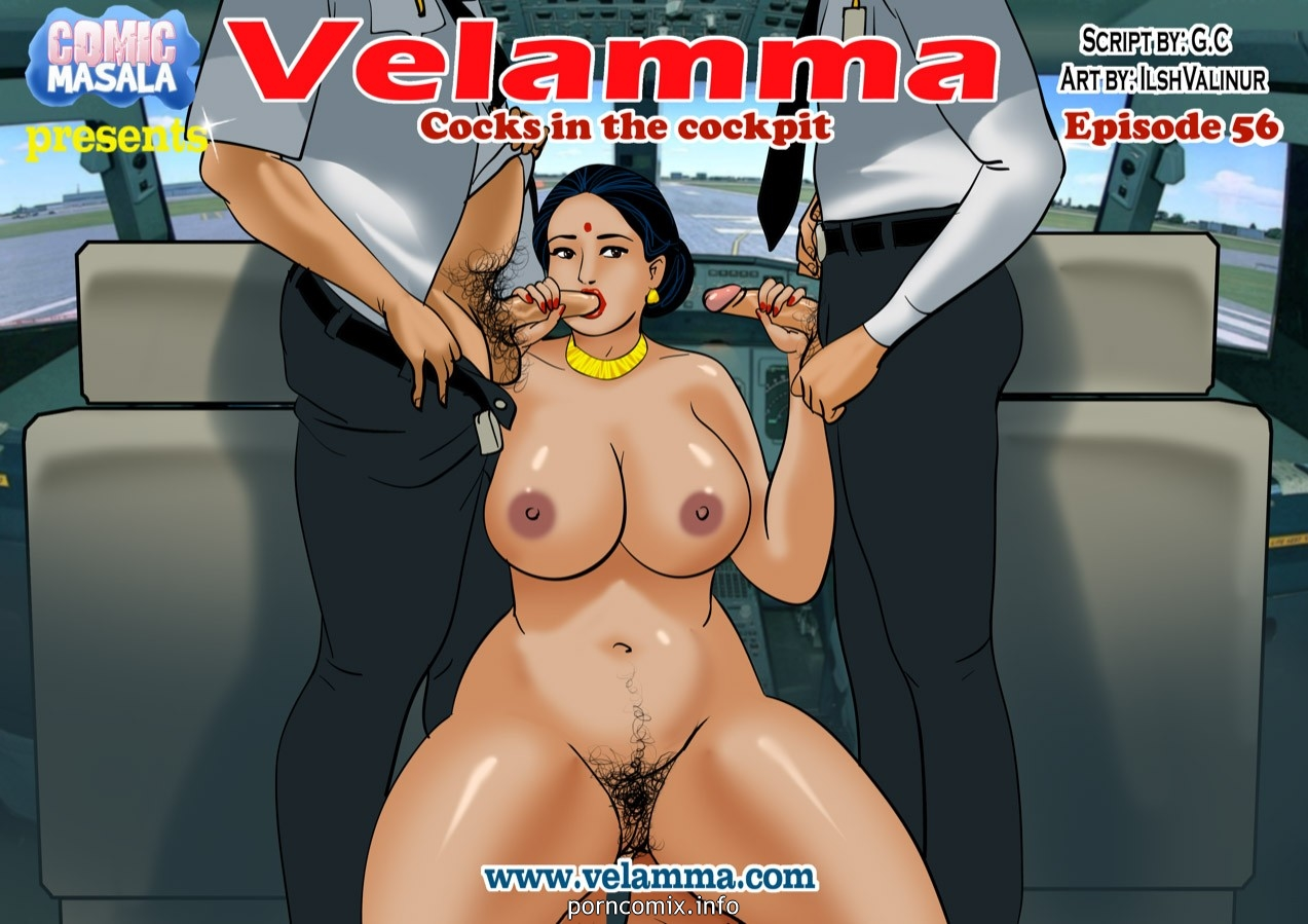 Porn Comics - Velamma 56- Cocks in the cockpit porn comics 8 muses