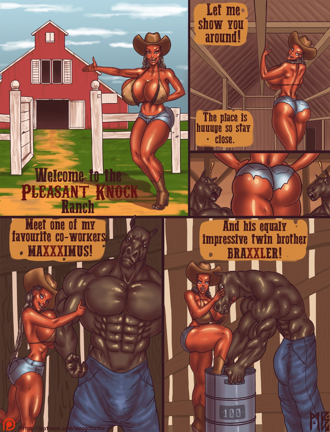 Porn Comics - Welcome To The Pleasant Knock Ranch porn comics 8 muses
