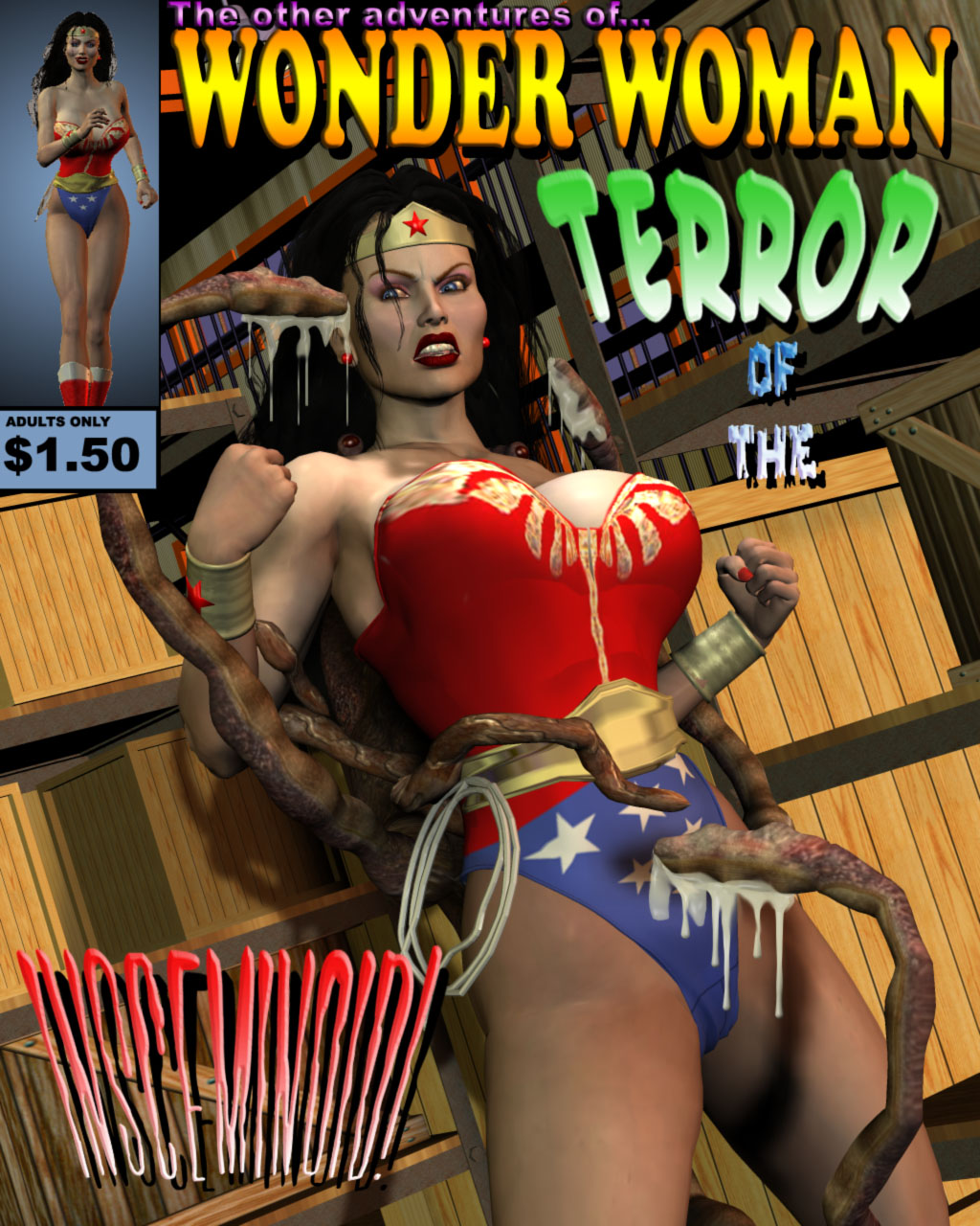 Porn Comics - Wonder Woman Terror Insceminoid porn comics 8 muses