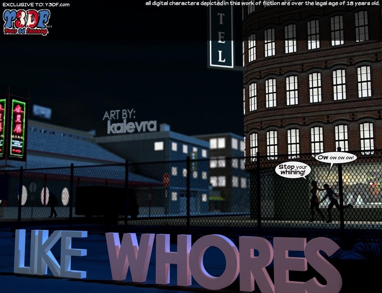 Porn Comics - Y3DF- Like Whores porn comics 8 muses