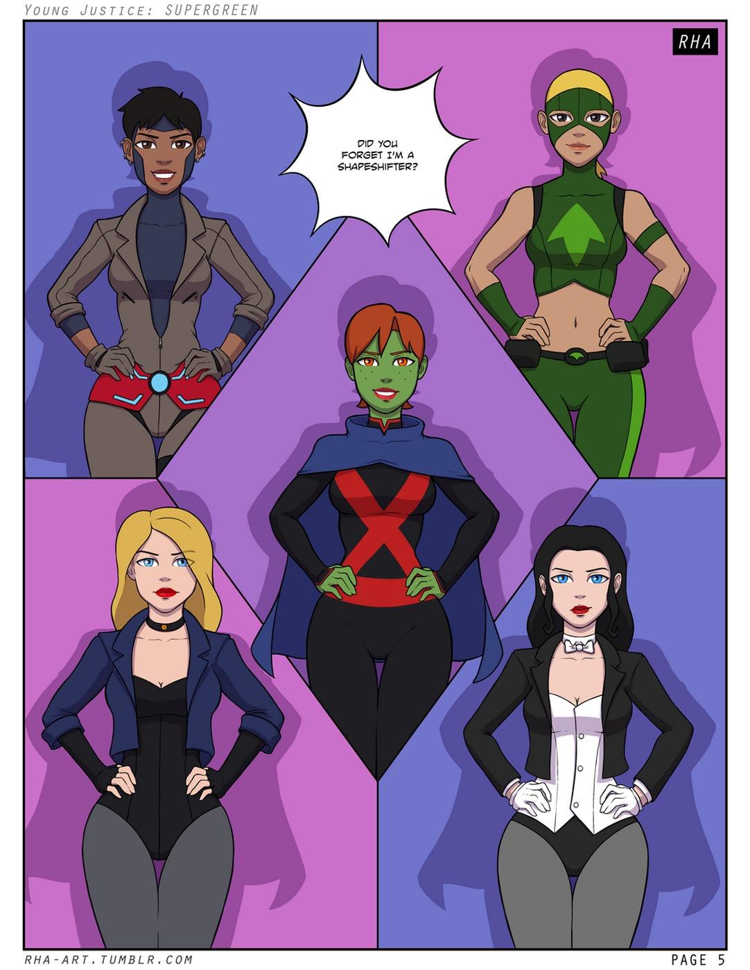 Porn Comics - Young Justice Supergreen porn comics 8 muses