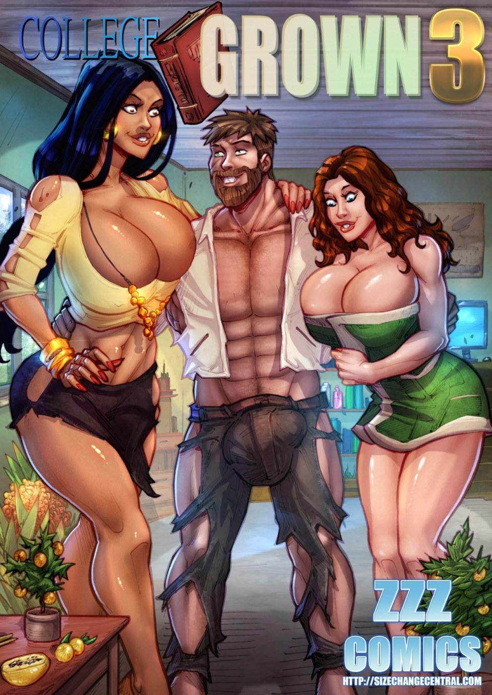 Porn Comics - ZZZ- College Grown 3 porn comics 8 muses