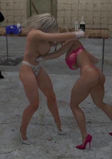 2 Busty Milf Boobs Fight-PPZ3D image 07