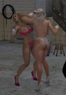2 Busty Milf Boobs Fight-PPZ3D image 08