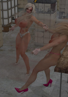 2 Busty Milf Boobs Fight-PPZ3D image 65