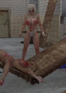 2 Busty Milf Boobs Fight-PPZ3D image 73