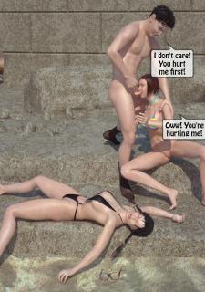 3DStories-Two women fuck a man image 23