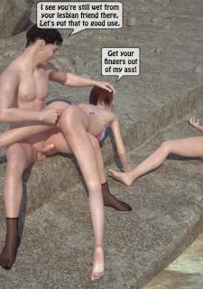 3DStories-Two women fuck a man image 25