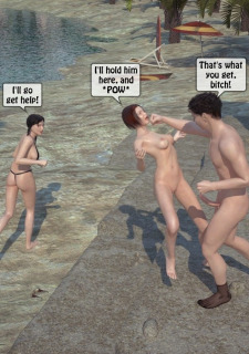 3DStories-Two women fuck a man image 37
