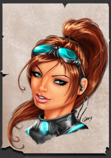 Corey Knaebel's art-RayArtz SuperGirls image 33