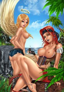 Corey Knaebel's art-RayArtz SuperGirls image 67